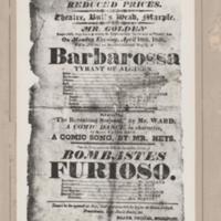 Theatre Advertisement :  Performance at the Bulls Head 1820