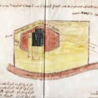 Sketch of Ancient Chapel and Chapel Yard 1805