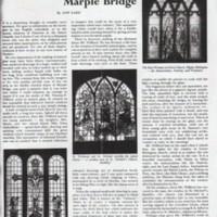 "Magazine article : ""Stained glass at Marple Bridge""  : 1954"