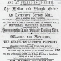 Auction of Freehold Estates in Mellor and Marple  : 1867