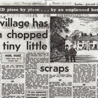 Our Village has been chopped into tiny little scraps : MEN Article : 1960
