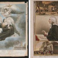 Two postcards relating to John Wesley : Two Xmas Cards from Marple Methodist Church
