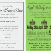 Posters and Flyers for Marple Bridge & Town Street Events : Various Dates