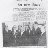 Opening Ceremony for Marple Library : Undated