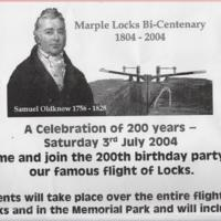 Marple Locks Bi-Centenary 1804 - 2004 Celebration