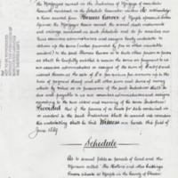 """Undertaking & Schedule """"The Hollins"""" : 1889"""