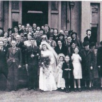 Wedding Photograph outside Brentwood House : 1946