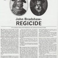 Article : Cheshire Life  : 1969 : John Bradshaw