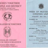 Several Council of Churches pamphlets : 1968 - 2004
