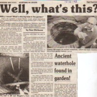 Newspaper Reports on Wells / Culverts in Marple