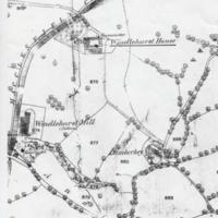 Two Maps : Location of Windlehurst Hall : 1852 & 1980