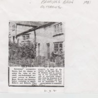 Brabyns Brow Cottages : Newspaper article  :  1981