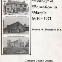 "Booklet : ""History of Education in Marple 1602 - 1971"" by Gladys A Swindells B.A. 1974"