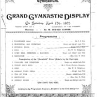Grand Gymnastics Display 1902 Programme