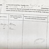 Surveyors Report 1836 : Recording Bridges in Marple /Compstall