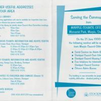 Leaflet : Services at Marple Council Offices : 1999