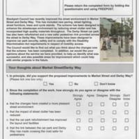 Questionnaire on Improvements to Market St &  Derby Way : 2005