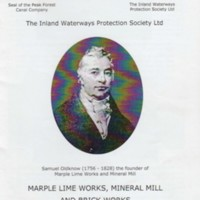 Booklet : Marple Lime Works, Mineral Mill and Brick Works : 2009