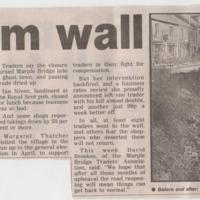 Newspaper Cuttings relating to Town Street  Collapse :  1991