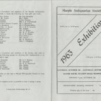 Exhibition Programme : 1963