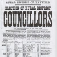 Notice of Results for Rural District of Hayfield 1898