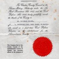WW2 Civil Defence Volunteers : Two Certificates : R Julier