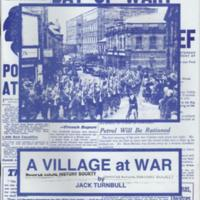 "Booklet : ""A Village at War"" by Jack Turnbull : WW2"
