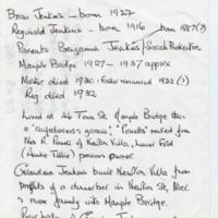Brian Jenkins born 1922  : Short History