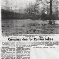 Newspaper / Magazine Articles relating to Roman Lakes from 1970's