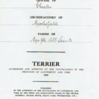 Copy of Terrier of all properties, rents etc belonging to All Saints Church