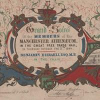 Invitation to Grand Soiree at the Free Trade Hall 1844