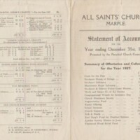 Statement of Accounts : Year ending 1927
