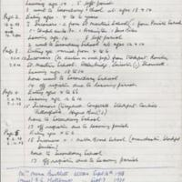 Handwritten extracts from Mellor School Entry Book : 1892 - 1945
