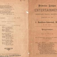 Primrose League Entertainment at Shepley Hall 1888