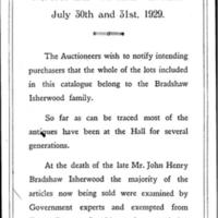 Notification from Auctioneers : 1929