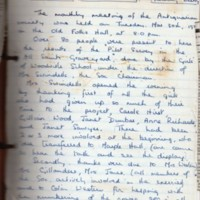 Book : Marple Antiquarian Society Handwritten Notes from 1971