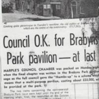 Newspaper articles reporting on Pavilion for Brabyns