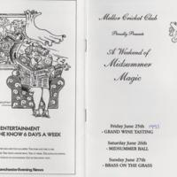 Mellor Cricket Club : Midsummer Magic : 1993