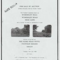 Estate Agents Details : Wybersley Hall  1988