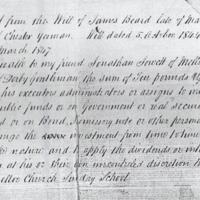 Extract from Will of James Beard : 1844 : Minutes of Moor End Sunday School
