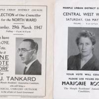 Marple Urban District Council Election Leaflets