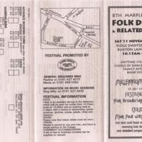 Leaflet for Folk Festival at Ridge Danyers College : 2000