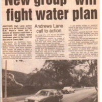 Newspaper cuttings relating to High Lane from 1990