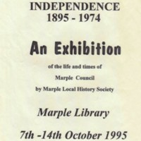 Local History Exhibitions : Poster and Flyers : 1995 - 2000