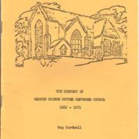 Booklet : History of Marple Bridge United Reformed Church. 1662 - 1981 by Reg Cordwell