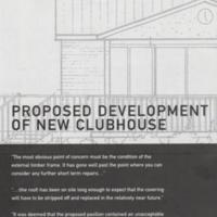 Brochure : Plans for Mellor Sports Club : 2001