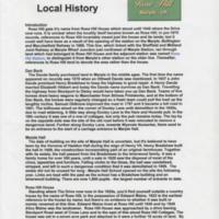 Pages on Local History from Rosehill Website