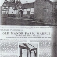 Cheshire Life Article : Old Manor Farm 1951
