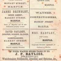 Two pages with advertisements for businesses in Marple & Stockport Area : Undated