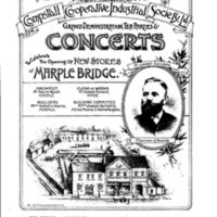 Programme : Concert to celebrate opening of Marple Bridge Co-op 1893